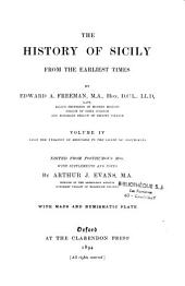 The History of Sicily from the Earliest Times