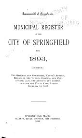 Municipal Register of the City of Springfield ...