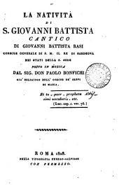La natività di s. Giovanni Battista, cantico: Volume 8