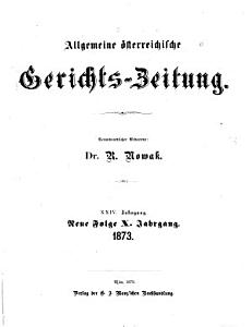 Allgemeine   sterreichische Gerichtszeitung PDF