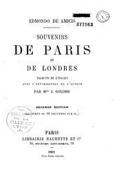 Souvenirs de Paris et de Londres