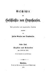 Geschichte des Geschlechts von Oeynhausen: aus gedruckten und ungedruckten Quellen, Bände 1-2
