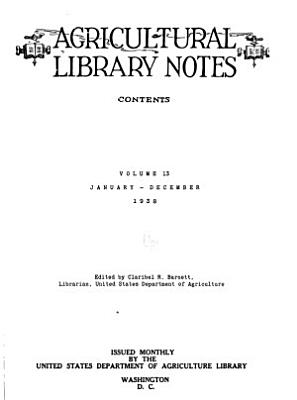 Agricultural Library Notes PDF