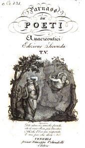 Parnaso De' Poeti Anacreontici: Volume 5