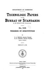 Technologic Papers of the Bureau of Standards: Issue 208