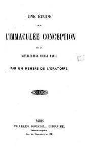Une étude sur l'Immaculée Conception de la Bienheureuse Vierge Marie