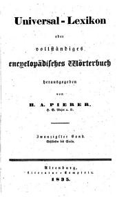 Universal-lexikon, oder Vollständiges encyclopädisches wörterbuch: Band 20