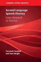 Second Language Speech Fluency PDF