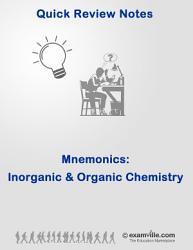 Quick Review Mnemonics For Inorganic And Organic Chemistry Book PDF
