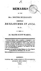 Remarks on ... doctor [C.] Buchanan's Christian researches in Asia: Volume 5