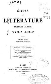 Études de littérature ancienne et étrangère