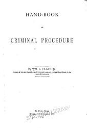 Hand-book of Criminal Procedure