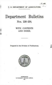 Department bulletin: Issues 226-250