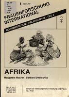 Leben und Arbeit von Frauen  Frauenforschung und Frauenbewegung in Afrika PDF