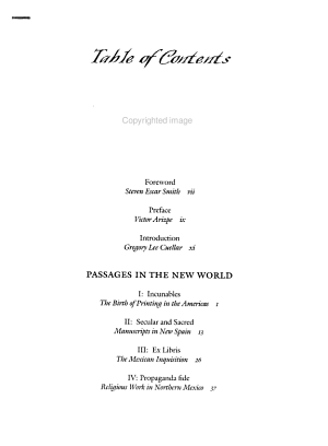 Passages in the New World