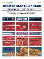 Belwin Master Solos (Trombone), Vol 1: Advanced Piano Acc.