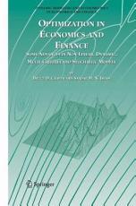Optimization in Economics and Finance PDF