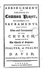 Abridgement Of The Book Of Common Prayer Book PDF