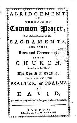 Abridgement of the Book of Common Prayer