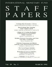 IMF Staff papers: Volume 39, Issue 1