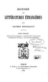 Histoire des littératures étrangères: Volume1