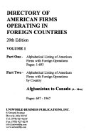 Directory of American Firms Operating in Foreign Countries PDF