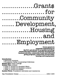 Grant For Community Development Housing Employment Book PDF