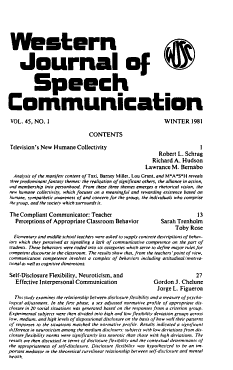 Western Journal of Speech Communications PDF