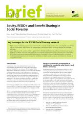 Equity, REDD+ and Benefit Sharing in Social Forestry