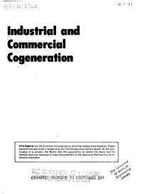 Industrial and Commercial Cogeneration PDF