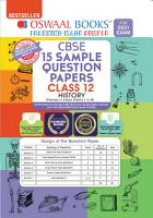 Oswaal CBSE Sample Question Papers Class 12 History Book  Reduced Syllabus for 2021 Exam  PDF