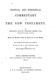 Critical and Exegetical Commentary on the New Testament: Matthew