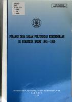 Peranan desa dalam perjuangan kemerdekaan di Sumatera Barat  1945 1950 PDF