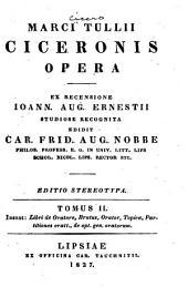 Marci Tullii Ciceronis opera: Libri de oratore. Brutus, Orator, Topica, Partitiones oratt. De opt. gen. oratorum