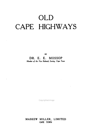 Old Cape Highways PDF