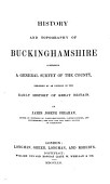 History And Topography Of Buckinghamshire