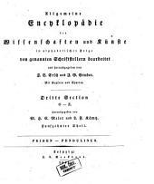 Allgemeine Encyclopädie der Wissenschaften und Künste in alphabetischer Folge: Dritte Section: O-Z, Band 15