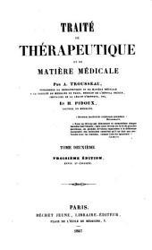 Traité de thérapéutique et de matière médicale: Volume2