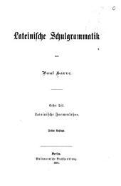 Lateinische Schulgrammatik