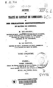 Traité du contrat de commission: Volume5