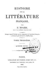 Histoire de la littérature française: Volume3