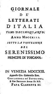 Giornale de' letterati d'Italia: Volume 14