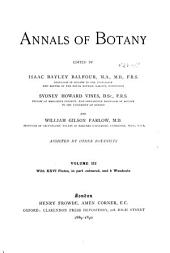 Annals of Botany: Volume 3