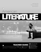 American Literature  Teacher Guide  PDF