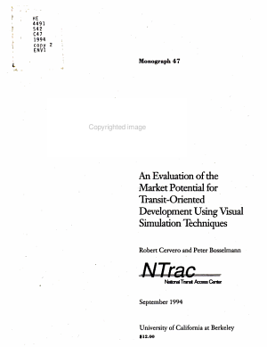 An Evaluation of the Market Potential for Transit oriented Development Using Visual Simulation Techniques PDF