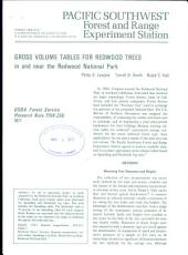 Gross volume tables for redwood trees in and near the Redwood National Park