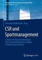 CSR und Sportmanagement PDF