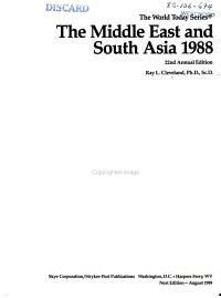 The Middle East and South Asia  1988 PDF