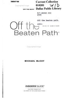 Insiders Guide Off The Beaten Path Montana PDF