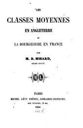 Les classes moyennes en Angleterre et la bourgeoisie en France